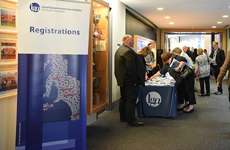image of LGA event registration desk