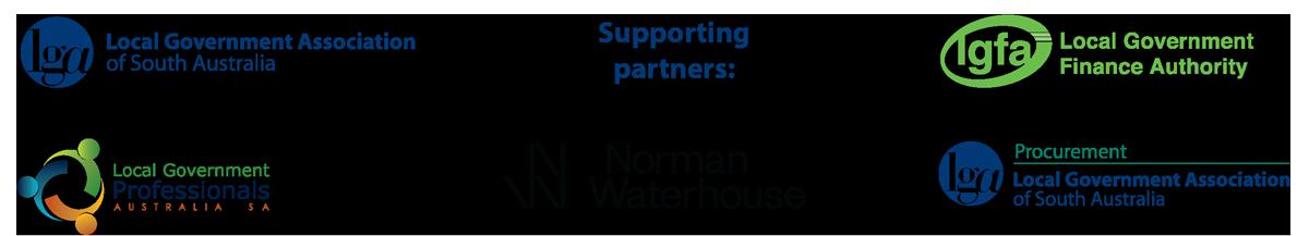 Shovel Ready supporting organisations - LGA Procurement, LG Professionals, LGFA, Norman Waterhouse